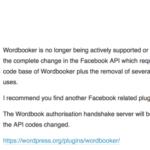 Wordpressの投稿をFacebookに連携してくれるwordbookerがサポート終了