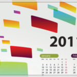 2011年カレンダーベクター素材2
