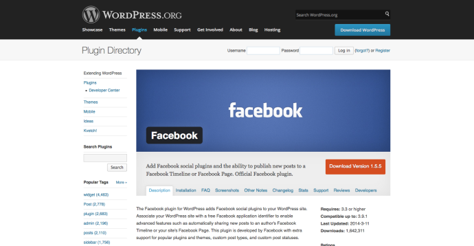 WordPress › Facebook « WordPress Plugins