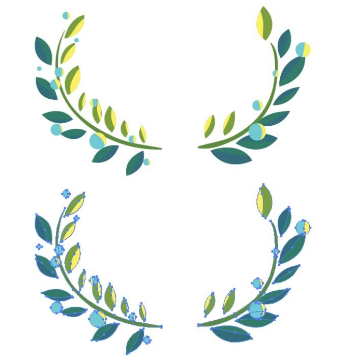 賞状・勲章などで使われる葉っぱ