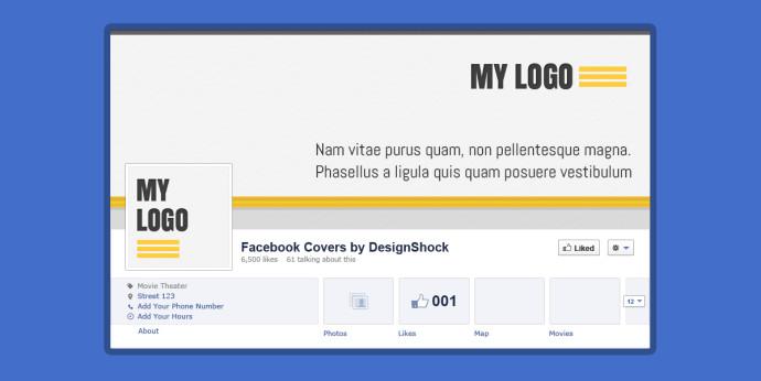 FacebookのPSDテンプレート4