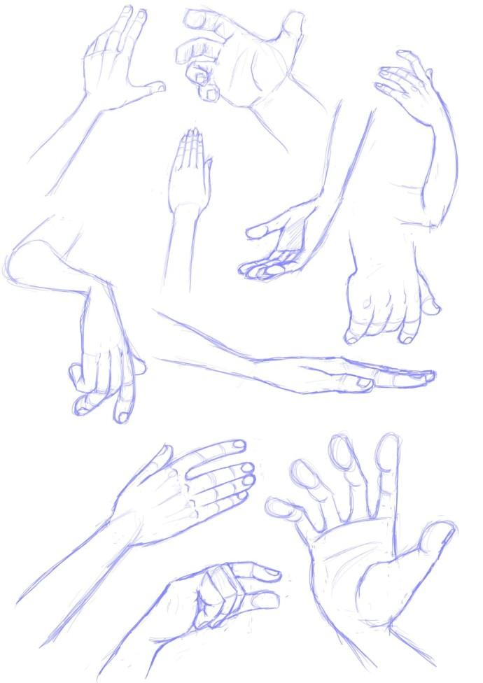 アメコミ風 手の描き方