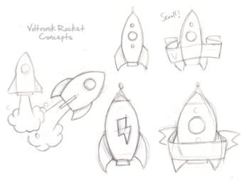 ロケットのロゴラフスケッチ