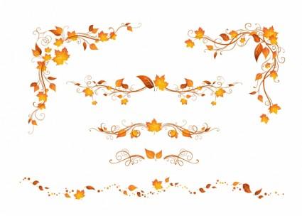秋のイメージベクターデータ7