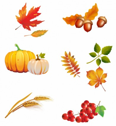 秋のイメージベクターデータ6