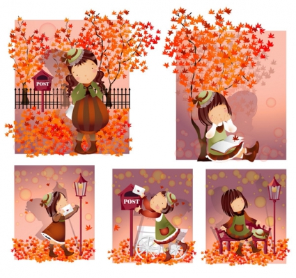 秋のイメージベクターデータ8