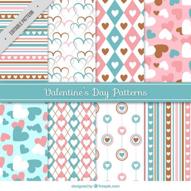 バレンタイン包装紙デザイン参考2