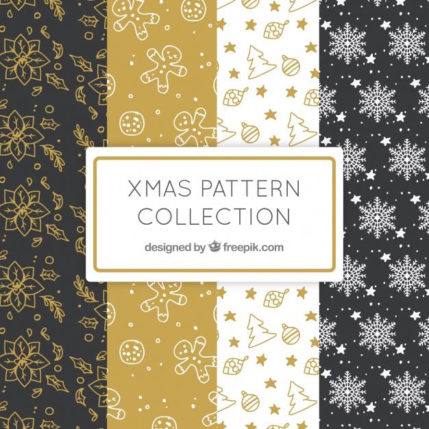 クリスマス包装紙デザイン参考ベクターデータ