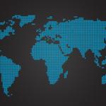 ドットで世界地図のベクターデータ