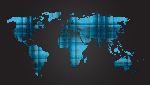 ドット世界地図ベクター素材