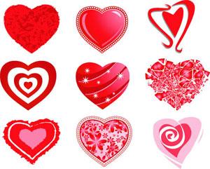 バレンタインベクター素材