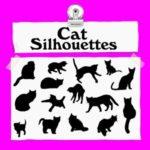 ネコのシルエットベクターデータ