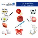 スポーツの道具ベクターデータ