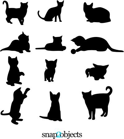 ネコのシルエットベクター