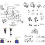 ゲームのコンセプトアート ラフスケッチ