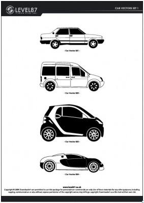 車のシルエットベクターデータ
