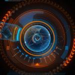 システマチック・未来派をイメージさせる円形デザインのベクターデータ