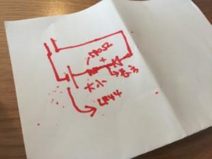 手書きの回路図