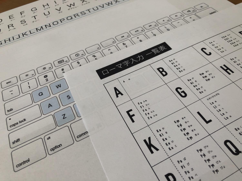 入力 一覧 ローマ字