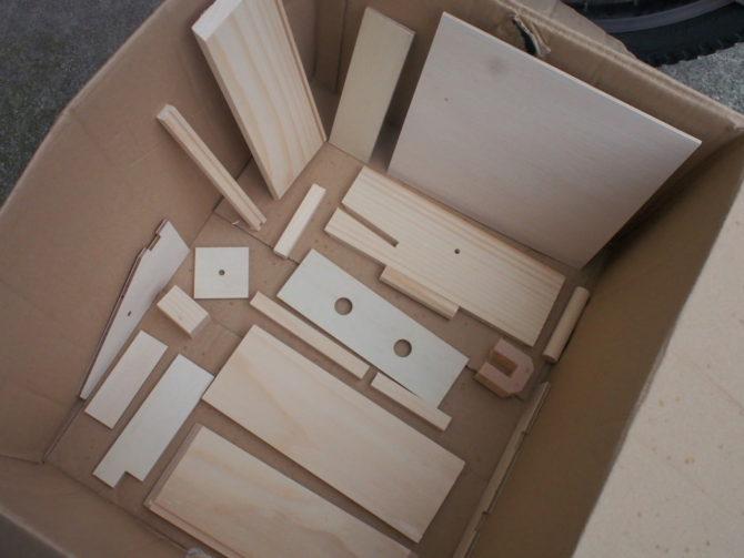 木工立体迷路 素組