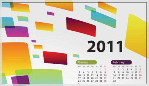2011年カレンダーベクター素材