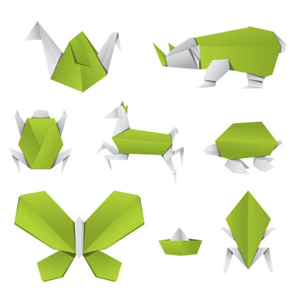 折り紙動物ベクターデータ