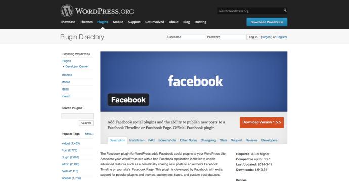 WordPress › Facebook « WordPress Plugins