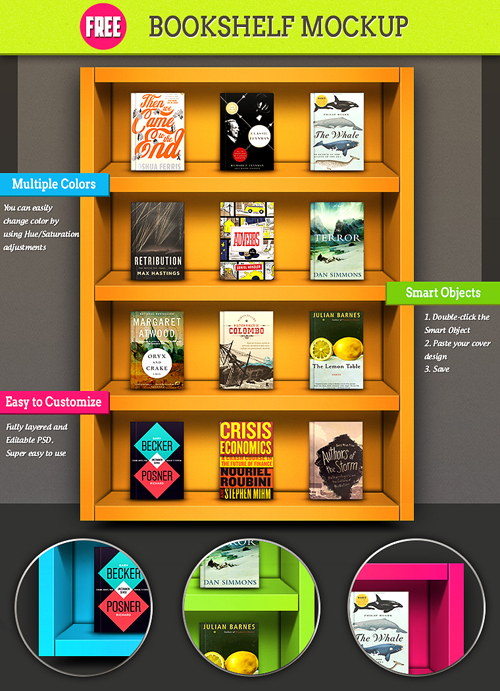 Colorful-Bookshelf-Mockup
