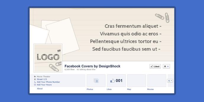 FacebookのPSDテンプレート5