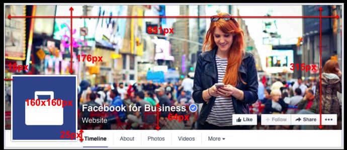 Facebookのカバー画像サイズ