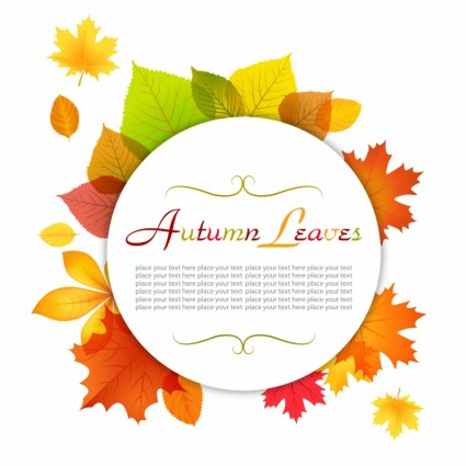 秋のイメージベクターデータ3