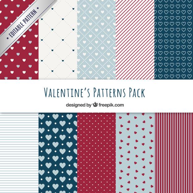 バレンタイン包装紙デザイン参考