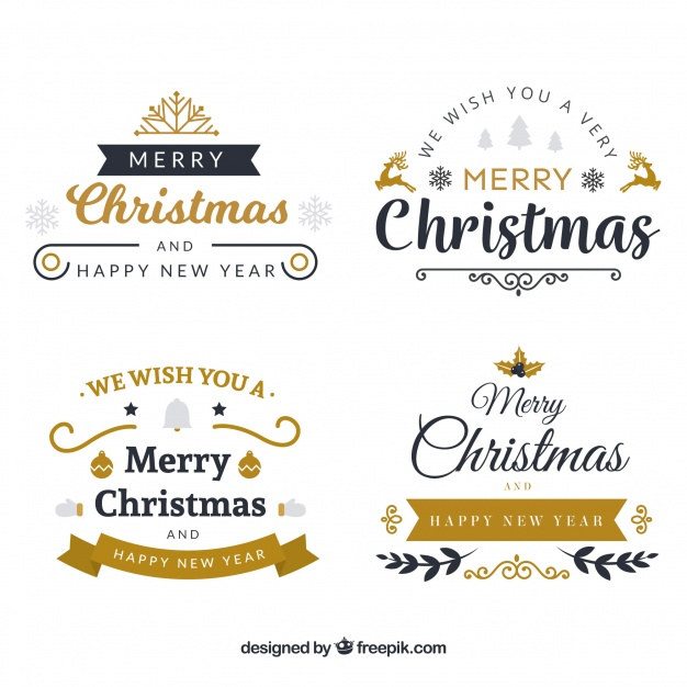 クリスマスロゴベクター素材