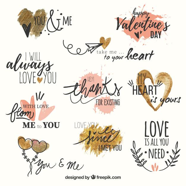バレンタインのロゴ参考ベクターデータ