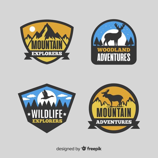 山・自然をモチーフにしたトラベルロゴ