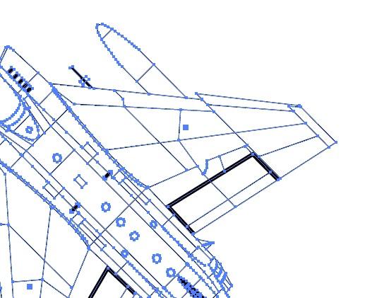 戦闘機のベクターデータ