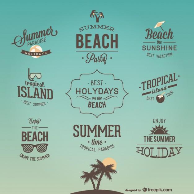 夏をイメージしたロゴマーク