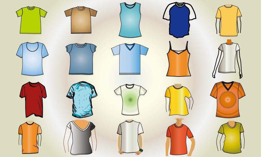Tシャツフォーマットベクターデータ